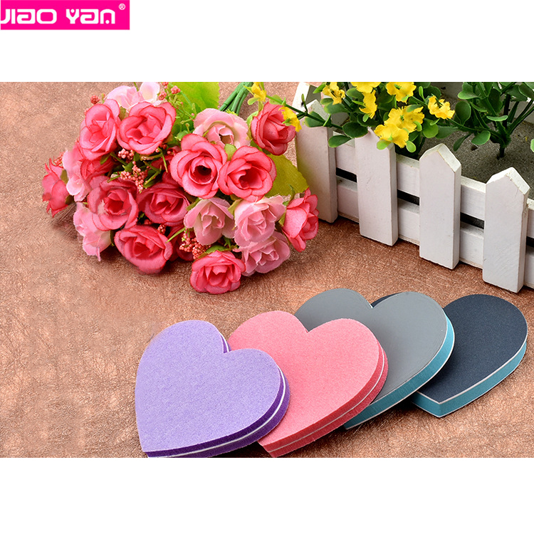 pink blue cute heart shape mini nail file for nail manicure #4645