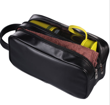 2015 New Zipper Leather Single clutch tarvel kits toiletry bag