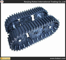 High quality rubber crawler track system ,rubber track chassis undercarriage parts for small tracked vehicles for sale