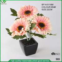 Quality Assurance, Export Quality, Artificial Chrysanthumum Flowers Pot, Artificial African Daisy Flowers