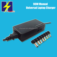 Manual 90W 96W Universal Notebook Laptop AC DC Adapter Charger 100V-240VAC Input/Compatible for HP DELL SAMSUNG