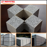 heat resistant insulated 100mm 125mm 150mm wall sandwich panel price
