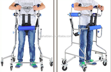 Folding walking training equipment Rehabilitation Device with four castors Walking Training Armrest