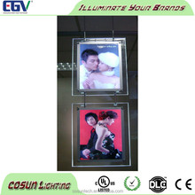 Window display haning crystal acrylic led light box real estate