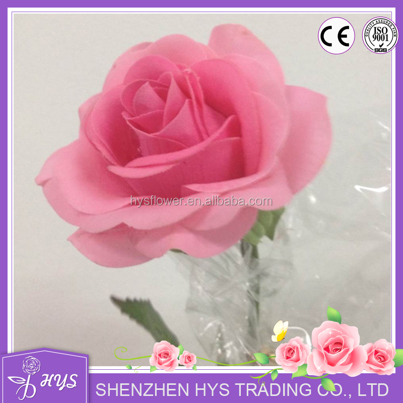 handmad high quality latex real touch rose flower