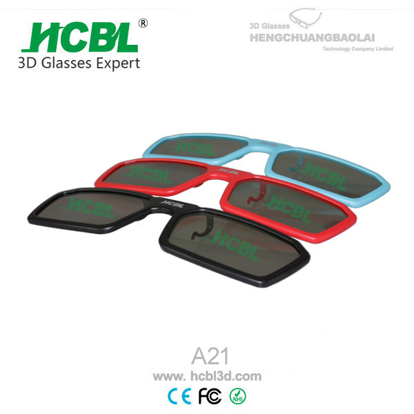 Plastic Red/blue 3d glasses