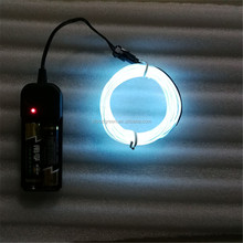 Different Size and 10 Colors,Portable Neon Light El Wire with Battery Pack
