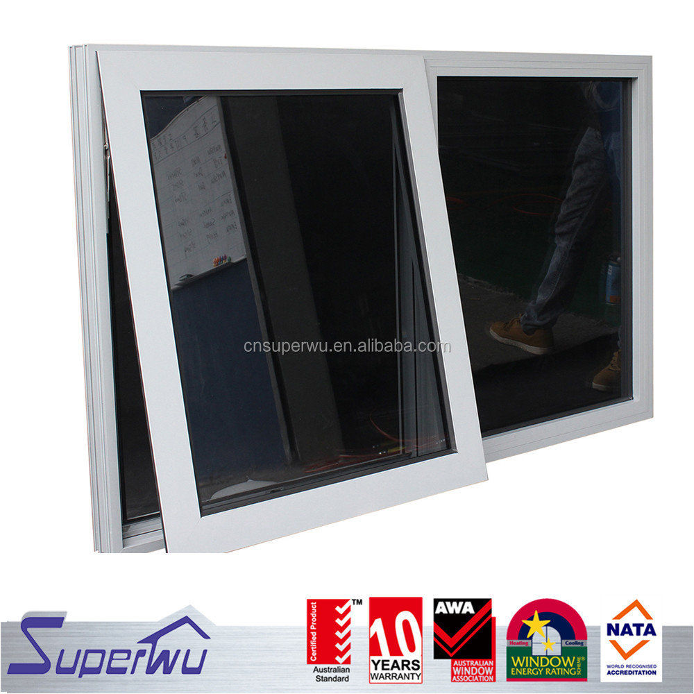 Super quality anodized aluminum frame awning window with insulated glass