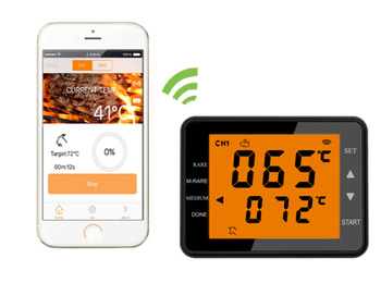 Flamingo SH252B Bluetooth Digital BBQ barbecue Thermometer for IOS&Android
