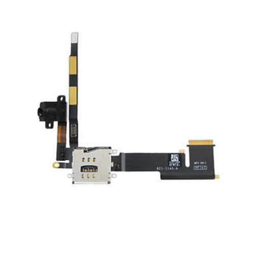 Best Headphone Jack Audio Flex Cable + SIM Connector for iPad 2 3G Version