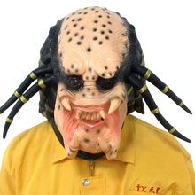 Eco-Friendly Material Halloween Mask Horror Party Cosplay Latex Creepy Ghost Alien vs. Predator Mask