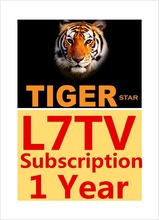 Hot Selling Tiger IPTV Apk Subscription 1 year L7 IPTV