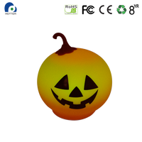 Led Silicone Pumpkin Light For Holloween
