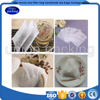 Top quality non woven biodegradable filter tea bag