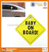 mothers car care windshield sticker/ baby on board warning sign