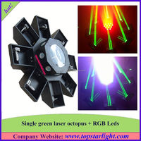lighting products wholesale single green+177*10mm rgb leds green laser octopus light laser