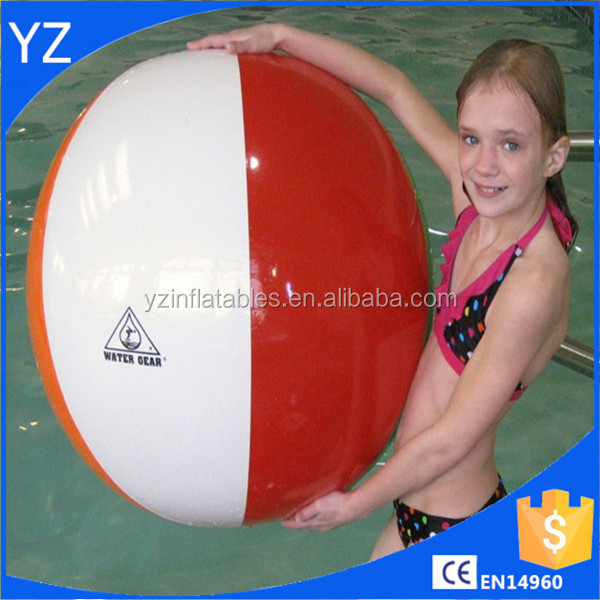 2016 wholesale PVC plastic inflatable beach balls toys for kids