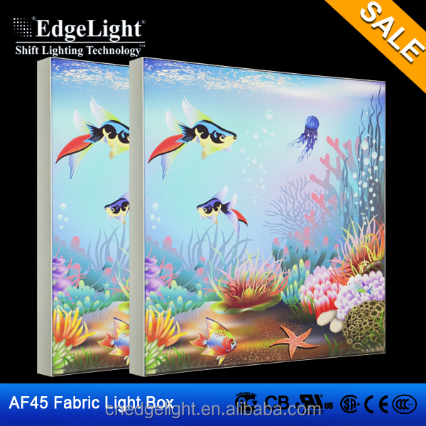 Edgelight AF45 Tension display Wall mounted or free standing frameless fabric led light box