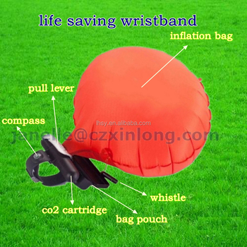 New design inflatable wrist wearing life jacket portable water sport wristband Anti-drowning flotation