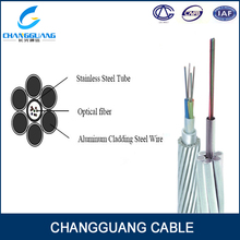 Hot sales OPGW Stranded steel Aerial multi core single mode fiber optic cable manufacturer