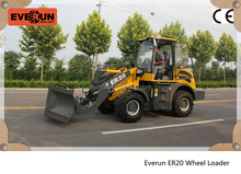 Qingdao Everun Mini Wheel Loader(2.0Ton),Construction Machinery,Articulated Loader With V Snow Blade