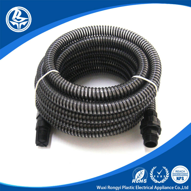 2016 New products asian pvc pipes black water pump suction hose