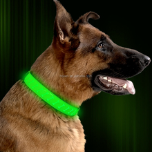 Popular import gift items from china in usa high quality PU Leather led glowing dog collar for Germany Dogs