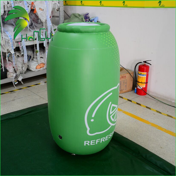 Popular PVC Outdoor Advertising Inflatable Can Replica, Giant Inflatable Beer Bottle With Slogan For Sale