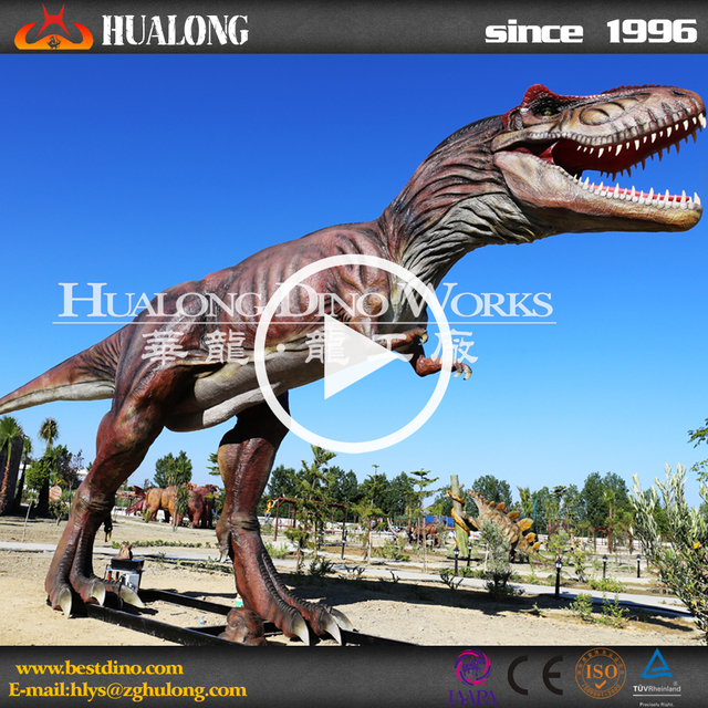 Professional artificial large t-rex dinosaur model for theme park