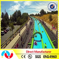 Inflatable sliding water slide, commercial inflatable water slide the city for adults