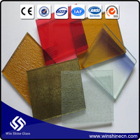 Colorful PVB Film Laminated Glass used for Building