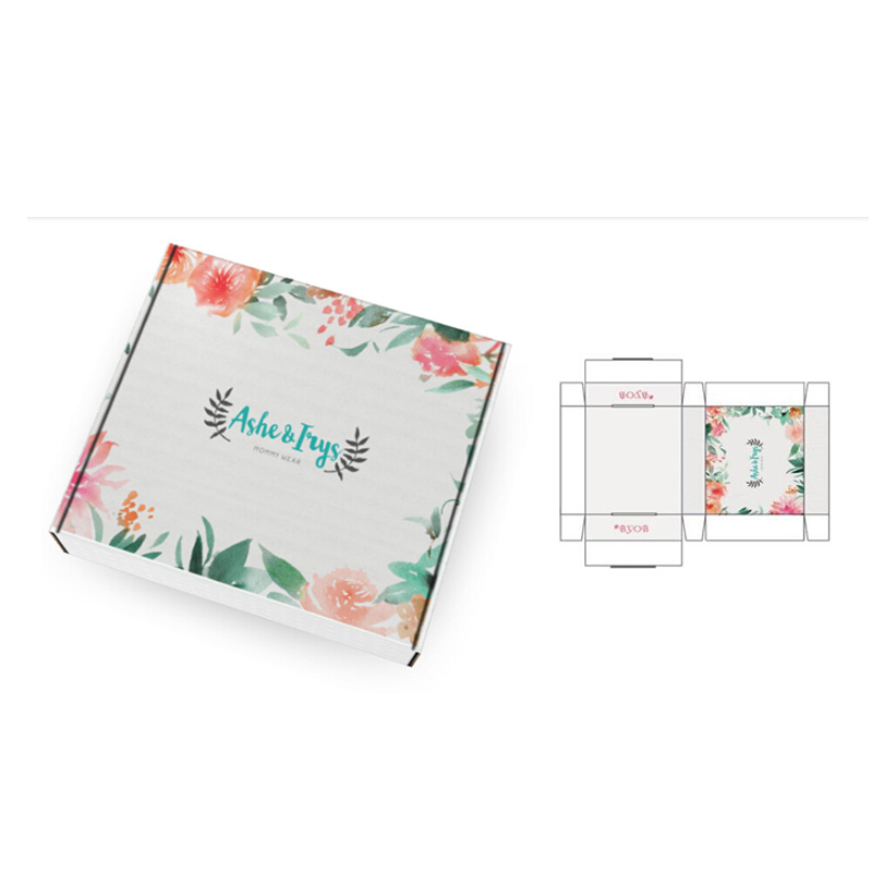Custom Made Printed Corrugated Paper Mailing Folding Gift Box For Clothing