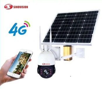 Sinovision Day&Night Vision Outdoor CCTV Wireless Solar Powered Wifi IP Camera with 3G 4G Sim Card P2P 22x zoom lens ptz camera