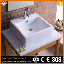 Bathroom decoration art ceramic white wash basin sink