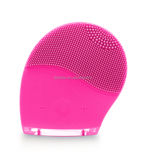 Handheld cleaning massager brush electronic silicone cleansing facial brush