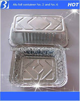 No 2 and No 6A, aluminium foil food tray
