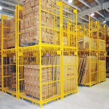 Powder coated metal stacking rack used for tyre storage