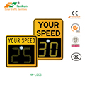 Radar speed screen traffic speed feedback screen