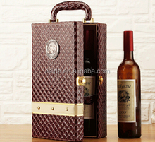 Famous Brand Retro Plaid Two Bottles High Quality Cheap portable PU Wine Package