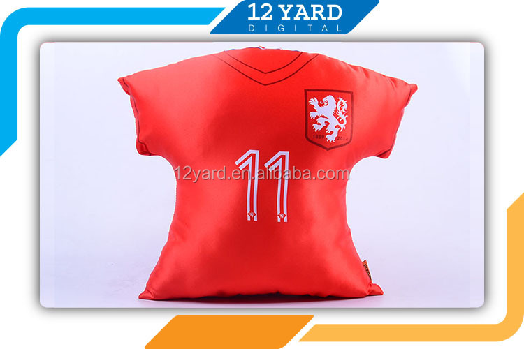 Netherland nation polyester peach skin pillow case, sport disposable pillow shaped T-shirt case