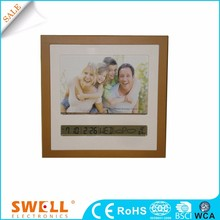 wholesale personalize custom logo wall clock , square photo frame wall clock