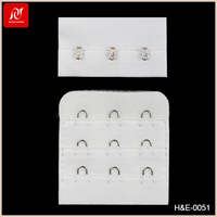 Stainless steel bra extender 3*3 hook eyes with different sizes for bra