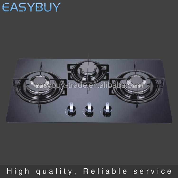 Hot sale With safety With glass panel built-in gas stove cooker single burner