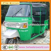 China Bajaj Tuk Tuk Rickshaw Commercial Tricycles For Passengers