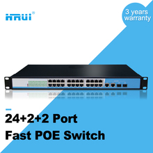 Network Equipment fast ethernet 100M 24 port POE Switches with 2 gigabit combo port