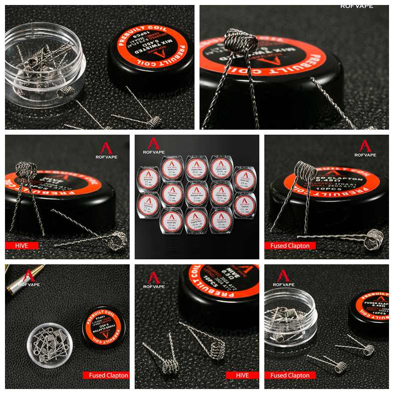 2016 new e cigs vape heating wire new notch coils demon killer wire clapton/alien/hive/tiger 8 in 1 demon killer prebuilt coil