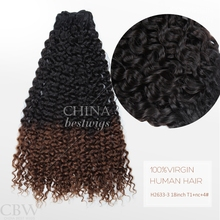Three Tone Color 18 Inch Hair Weft Micro Bead Ombre Hair Extensions