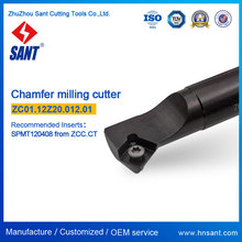 Chamfer tools matched carbide inserts SPMT120408 (Refer to ZCC code CMZ01-012-G20-SP12-01/Sant code ZC01.12Z20.012.01)