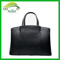 New style women tote large leather tote bag, ladies designer handbags, black leather tote bag
