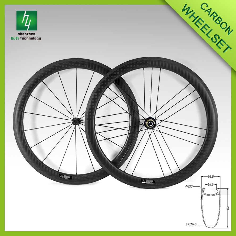 2016 china carbon disc wheels, 50C 25 width carbon bicycle disc wheel clincher China